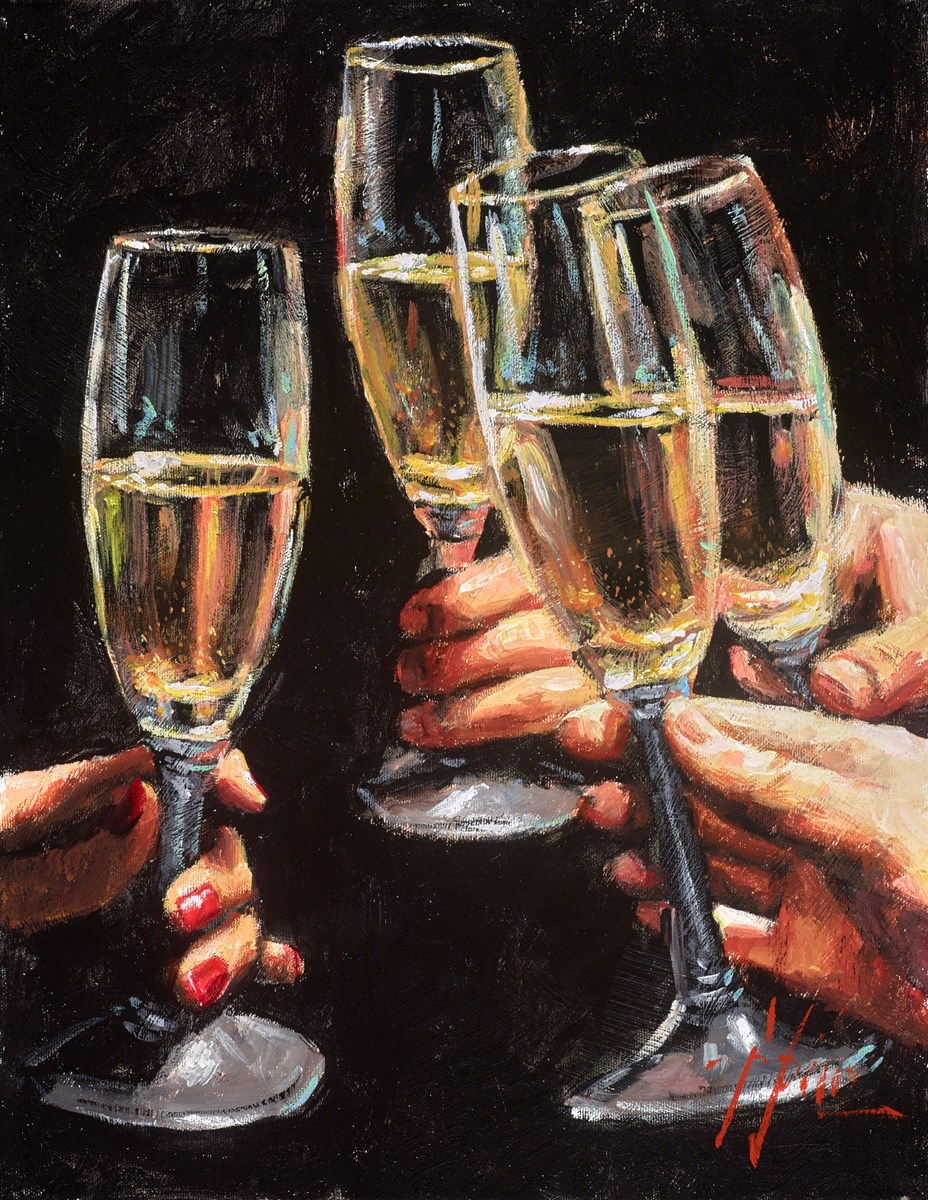 Study for Brindis con Champagne (Toast)
